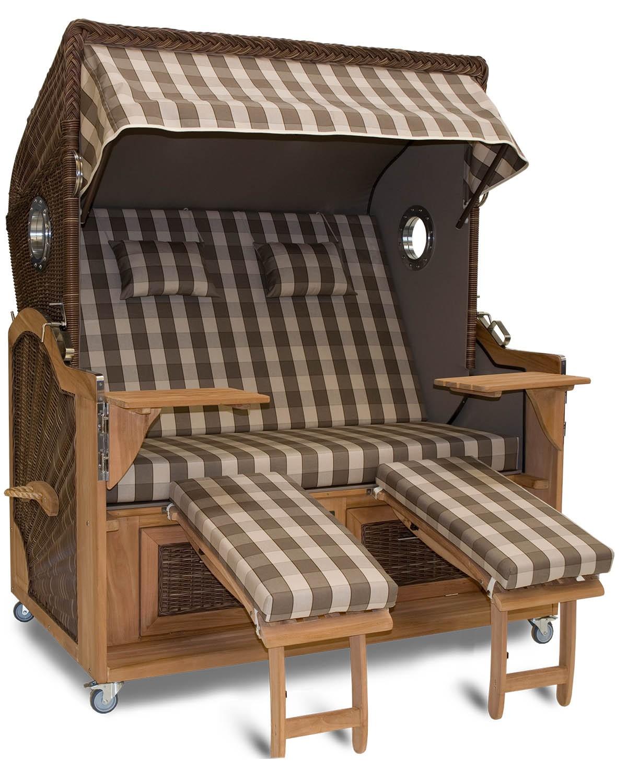 aussteller strandkorb xxl teak l neburg taupe bullauge. Black Bedroom Furniture Sets. Home Design Ideas