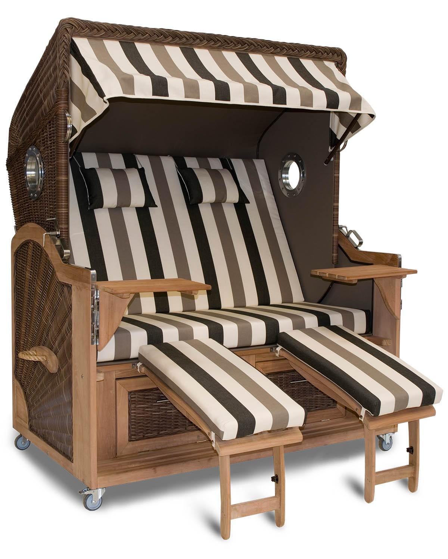 aussteller strandkorb xxl teak bremen schwarz bullauge. Black Bedroom Furniture Sets. Home Design Ideas