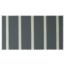 Strandkorb XL Mahagoni Hamburg Streifen grau