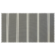 Strandkorb XXL Mahagoni Kassel 3er Streifen grau washed (ACHTUNG: Abbildung abweichend, hier Modell XL 130)