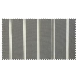 Strandkorb XL Mahagoni Kassel 3er Streifen grau washed