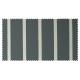 Strandkorb XXL Teak Hamburg Streifen grau