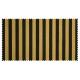 Strandkorb XXL Teak Cappucino Gronau Streifen schwarz gold