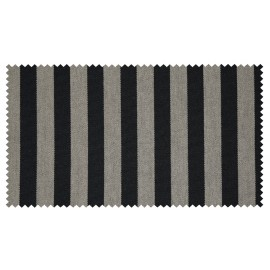 Strandkorb XL Teak Gronau Streifen schwarz silber