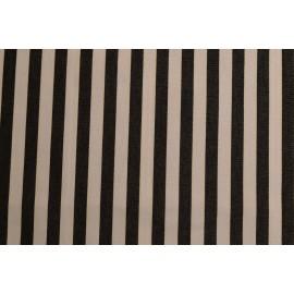 Strandkorb XL Teak Gronau Streifen schwarz weiß