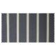 Strandkorb XL Teak Hamburg Streifen grau washed