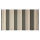 Strandkorb XL Teak Frankfurt Streifen grau hell
