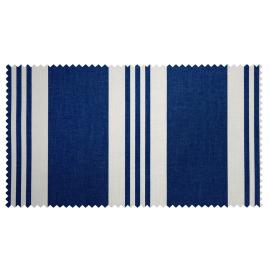 Strandkorb XL Teak Timmendorfer Strand Ralleystreifen blau