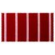 Strandkorb XL Teak Hamburg Streifen rot