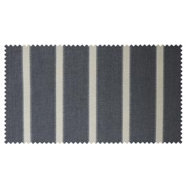 Strandkorb XXL Mahagoni Hamburg Streifen grau washed