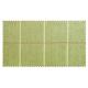 Strandkorb XXL Mahagoni Bonn Karo grün