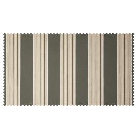 Strandkorb Single Mahagoni Frankfurt Streifen grau hell Bullauge
