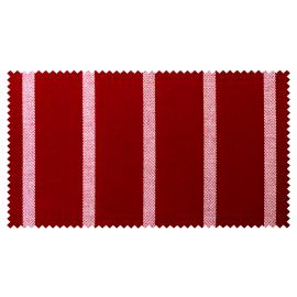 Strandkorb Single Mahagoni Hamburg Streifen rot