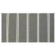 Strandkorb XL Teak Kassel 3er Streifen grau washed Bullaugen (ACHTUNG: Abbildung abweichend, hier Modell XXL)