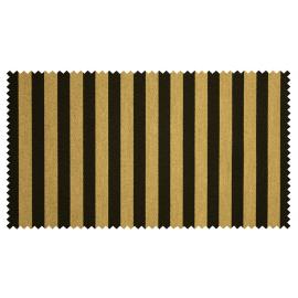 Strandkorb XL Mahagoni Bullaugen Gronau Streifen schwarz gold (ACHTUNG Abbildung abweichend, hier Modell XXL-150)
