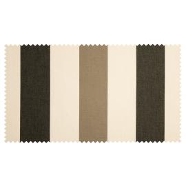 Strandkorb XL Teak Bremen Streifen schwarz taupe (ACHTUNG: Abbildung abweichend, hier Modell XXL-150)