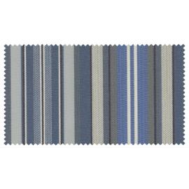 Strandkorb XXL Mahagoni Kiel Jeansblau Streifen