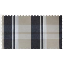 Strandkorb XXL Teak Berlin Karo schwarz beige (ACHTUNG: Abbildung abweichend, hier Modell XL-130)