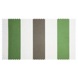 Strandkorb XXL Mahagoni Bremen Streifen grün taupe Bullaugen (ACHTUNG: Abbildung abweichend, hier Modell XL-130)