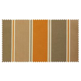 Strandkorb XXL Teak Nürnberg Streifen taupe beige orange (ACHTUNG: Abbildung abweichend, hier Modell XL-130)