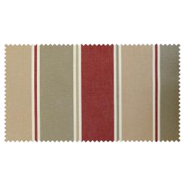 Strandkorb XL Teak Nürnberg Streifen taupe beige rot Bullaugen (ACHTUNG Abbildung abweichend, hier Modell XXL-150)