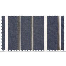 Strandkorb XXL Mahagoni Kassel Bullauge blau