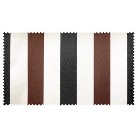 Strandkorb XXL Mahagoni Sanur Streifen schwarz