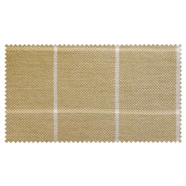 Strandkorb XL Teak Cappucino Bullaugen Bonn Karo taupe weiß (ACHTUNG: Abbildung abweichend, hier Modell XXL-150)