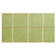 Strandkorb XL Mahagoni Bonn Karo grün (ACHTUNG: Abbildung abweichend, hier Modell XXL-150)