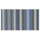 Strandkorb Single Mahagoni Kiel Multistreifen jeansblau