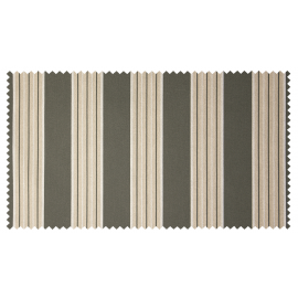Strandkorb XL Mahagoni Frankfurt Streifen grau hell Bullaugen