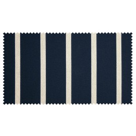 Strandkorb XXL Mahagoni Hamburg Streifen blau