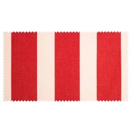 Strandkorb XXL Mahagoni Leipzig Streifen rot