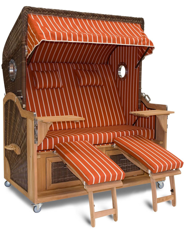 aussteller strandkorb xxl teak hamburg orange bullauge. Black Bedroom Furniture Sets. Home Design Ideas