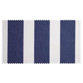 Strandkorb XL Mahagoni Leipzig Streifen blau Bullaugen