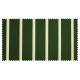 Strandkorb Single Mahagoni Hamburg Streifen grün