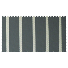 Strandkorb M120 Mahagoni Hamburg Streifen grau