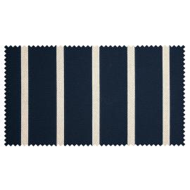 Strandkorb M120 Mahagoni Hamburg Streifen blau
