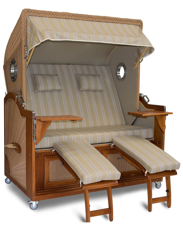 strandkorb xxl mahagoni hannover beige braun bullaugen kaufen belgarden die strandkorb. Black Bedroom Furniture Sets. Home Design Ideas
