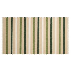 Strandkorb M120 Mahagoni Magdeburg Streifen fein grün